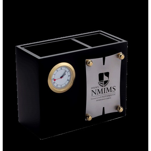 Pen Stand with Desk Clock (Code: BTC-482)