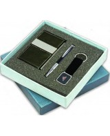Visiting Card Holder, Pen and Key Chain Set (Code:...