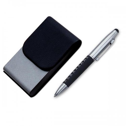 Gun Metal Finish Set of Stylus Pen & Visiting ...