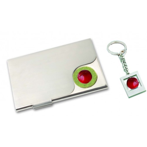 Visiting Card Holder with Key Chain  (Code: SET-89...