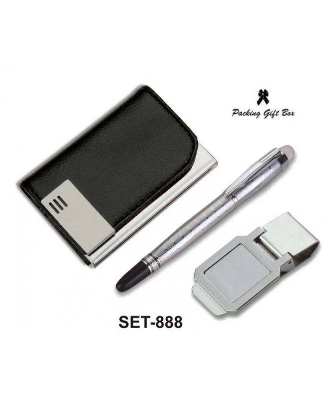 Visiting Card Holder with Pen and Money Clip (Code...