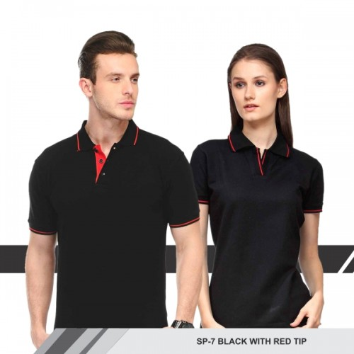 T-Shirt (Black with red tip)