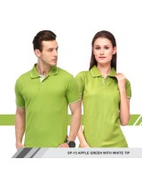 T-Shirt (Apple green with white tip)