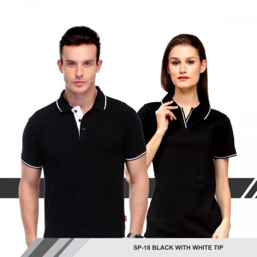 T-Shirt (Black with white tip)