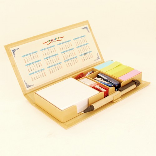 Eco-friendly stationery kit with sticky note pad (...