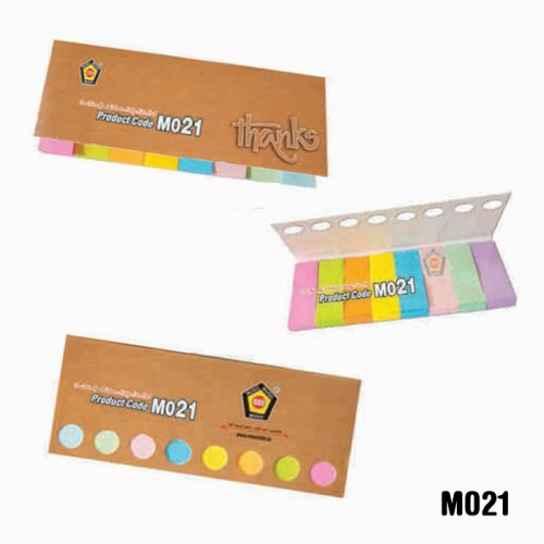 Eco-friendly 8 colours sticky note pad (Code: MO21...