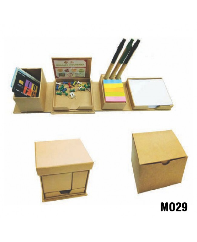 Eco-friendly foldable square cube box with pen hol...