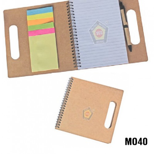 Eco-Foam folder with sticky note pad (Code: MO40)