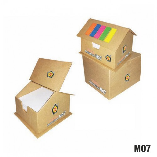Eco-friendly house cube with sticky note pad (Code...