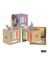 Eco-friendly penstand with sticky notes (Code: MO8...